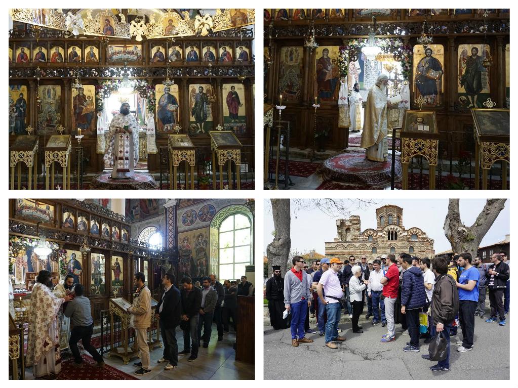 гръцки поклонници в Несебър