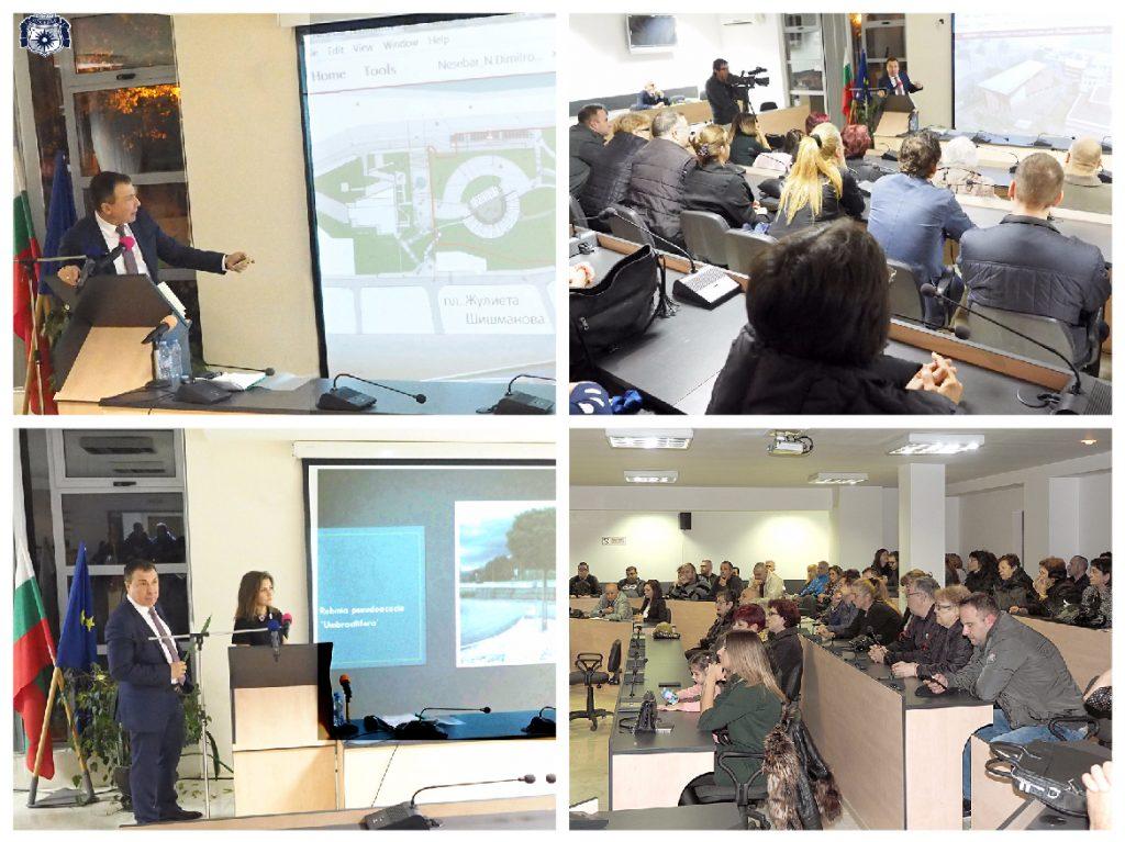 Кметът на Несебър представи цялостната си концепция за обособяването на широк център в новата част на града