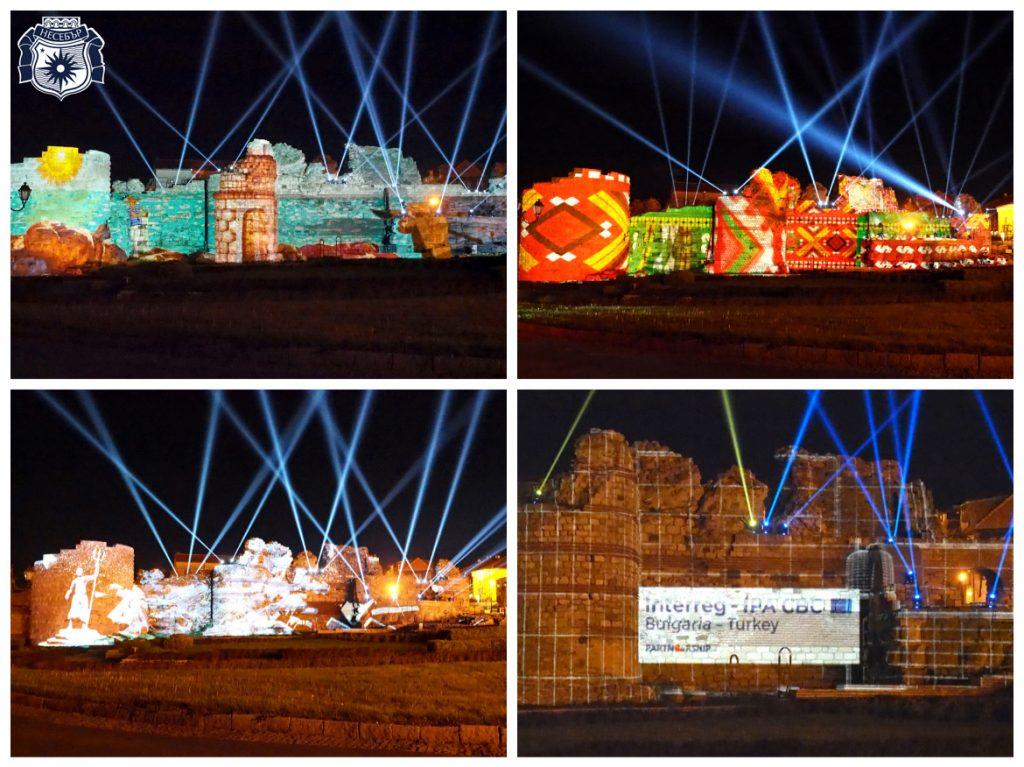 светлинно шоу в Несебър през лятото