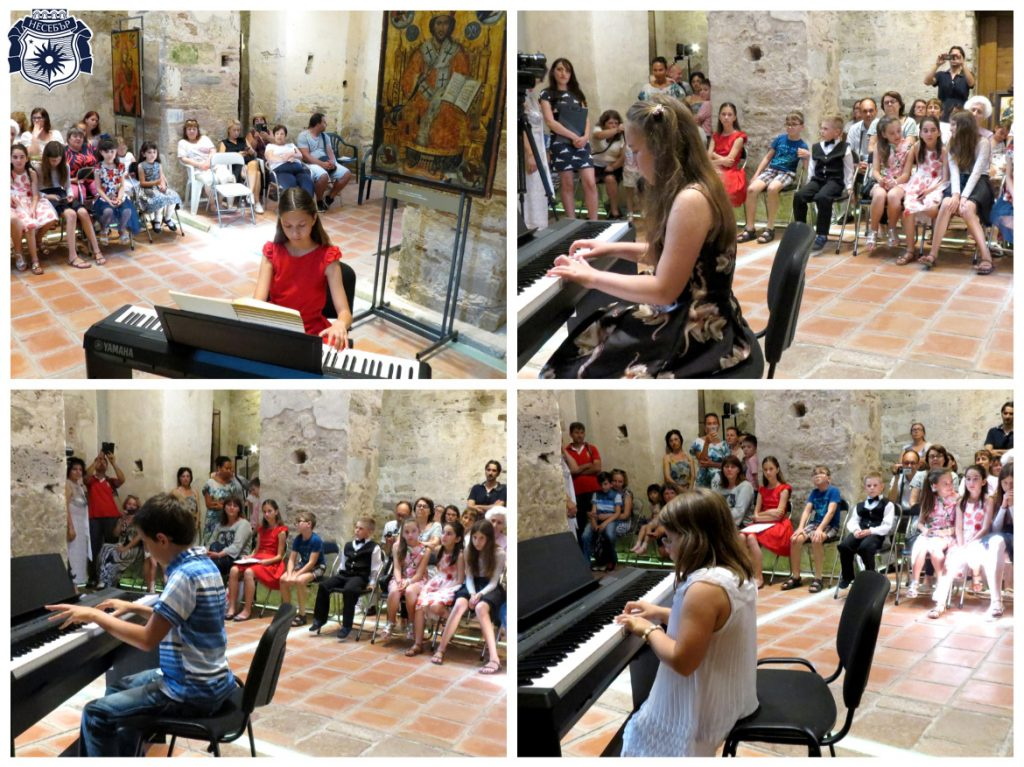 Децата от класа по пиано към ООШИ с концерт в средновековна църква
